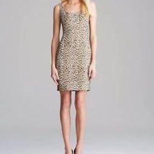 DVF Arianna Leopard Print Bodycon Dress